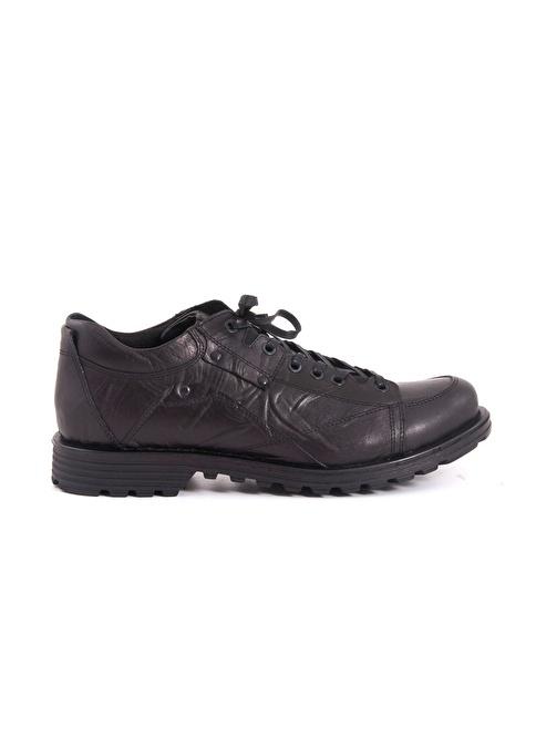 Kemal Tanca %100 Deri Bağcıklı Ayakkabı Siyah
